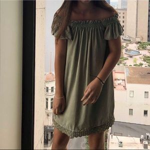 Off the Shoulder Dress from Zara